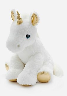 Jumbo Metallic Unicorn Plush