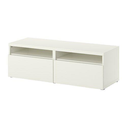 BESTÅ Kombinacja z szufladami IKEA Gładko przesuwające się szuflady z blokadą.