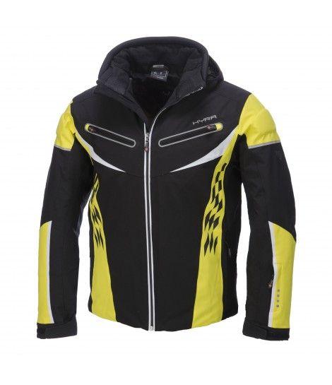 Hyra, St.Moritz ski-jas heren, zwart-geel (Ski kleding heren)