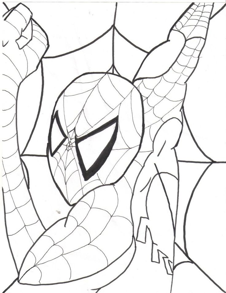 spiderman halloween coloring pages - photo#18