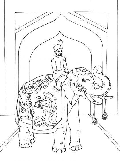 Ver 1 000 bilder om inde p pinterest mandalas hindus och indiskt - Elephant indien dessin ...