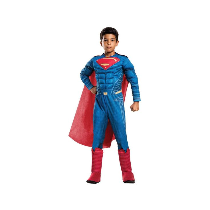 Halloween Boys' Superman Justice League Movie Deluxe Child Costume Medium, Multicolored