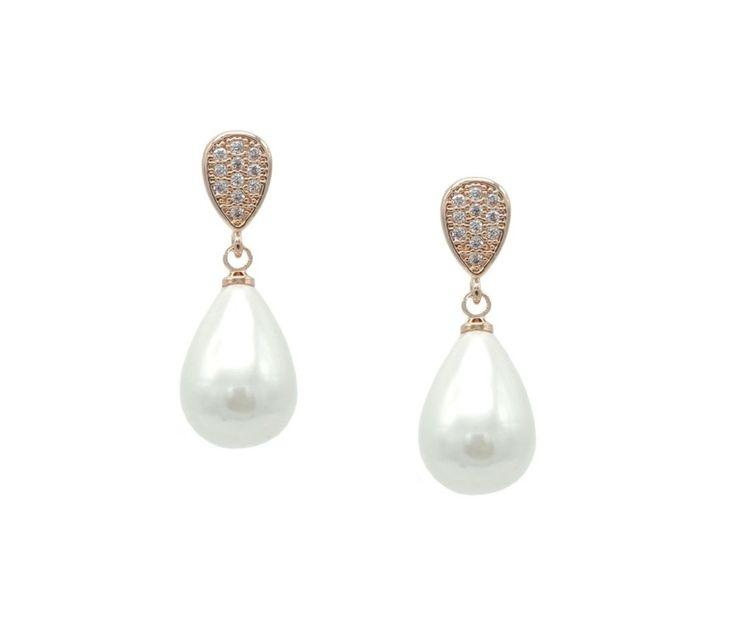 Sieraden - Oorbellen - Bruid - Bruidsoorbellen - Oorbellen bruid - Bridal jewellery - Crystal earrings - Oorbellen bruid crystals - Oorbellen Swarovski - Vintage oorbellen - Vintage earrings - Parel oorbellen
