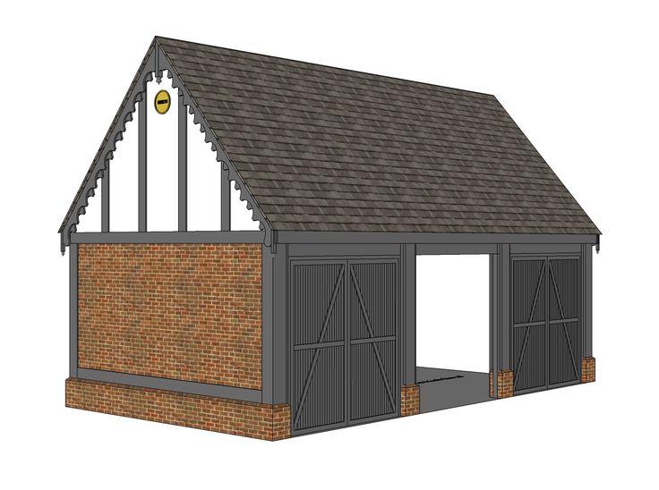 Garage proposal A - Ketteringham, Norfolk -  Image l