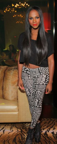 Tika Sumpter tribal grunge---This how long I want my natural hair to be. Gimme about a year and a half.