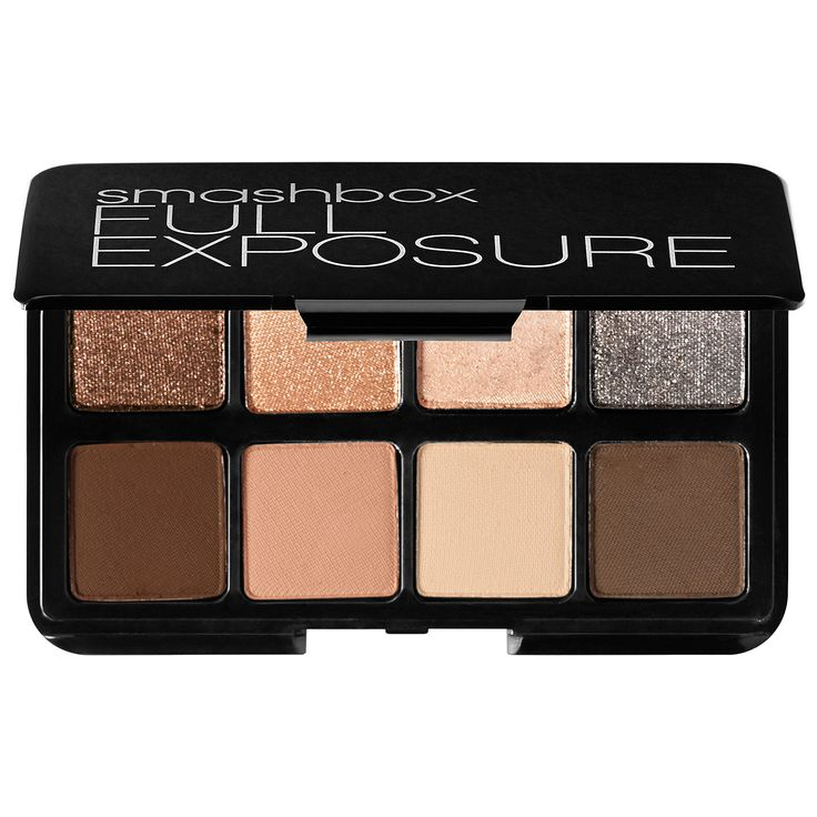 The Full Exposure Travel Palette - a travel-size palette of eight, universal neutral shadows. #Smashbox #Sephora