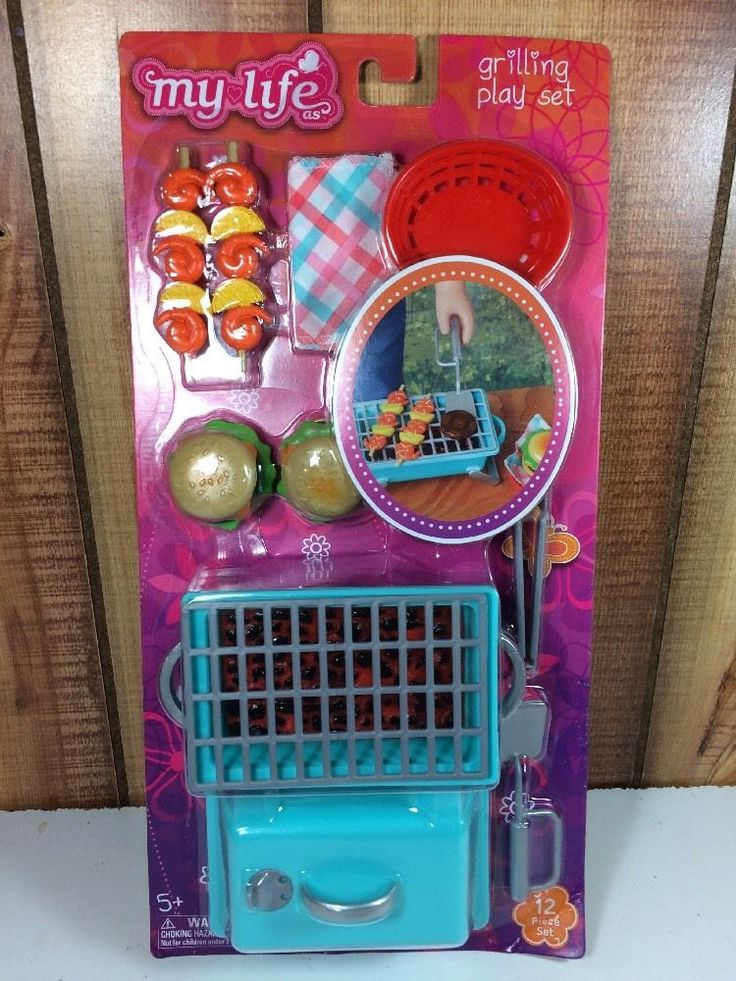 """My Life As Grilling Outdoor Playset 18"""" Doll Our American Girl Burger Picnic New #Mylifeas #HousesFurniture"""
