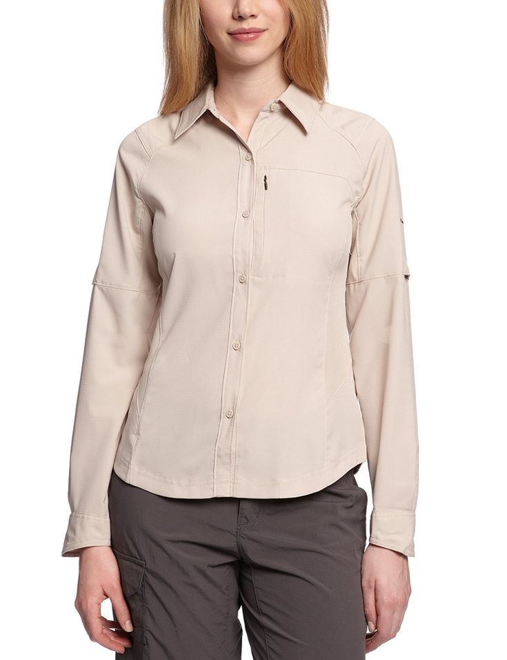 Columbia Women's Silver Ridge Long Sleeve Shirt ** Find out more details by clicking the image : Camping clothes