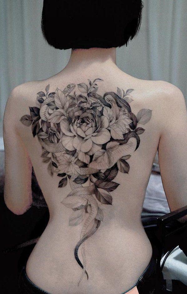 60 SNAKE TATTOO IDEAS   Back tattoo women, Snake tattoo, Tattoos