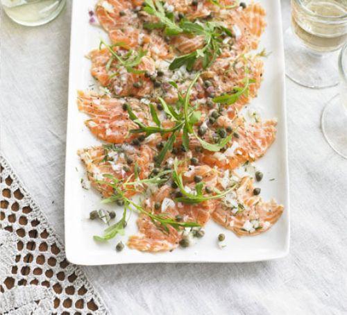 Fresh salmon carpaccio