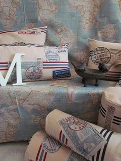 Postage Pillows - cute!