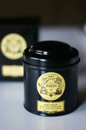 MARIAGE FRERES     MARCO POLO (black, not green)... it's basically splendor in a tin. My current favorite!
