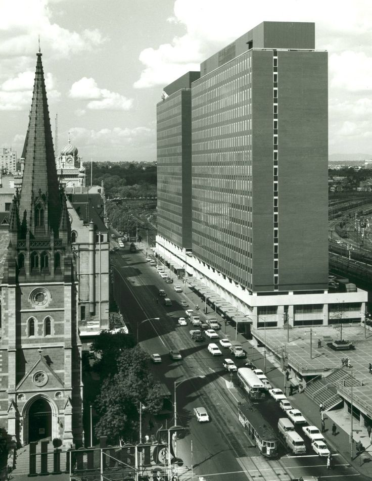 Melbourne's great eyesore, demolishing the 1960s Gas and Fuel Corporation buildings which obstructed a vista of heritage buildings along Flinders Street including St Paul's Cathedral to make way for Federation Square.
