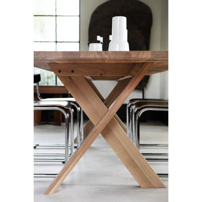 Ethnicraft Oak Pettersson Dining Table by Ethnicraft | Clickon Furniture