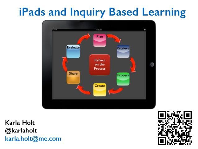 I pads and inquiry based learning   erlc wiki by karlaholt via slideshare