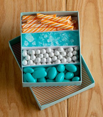 DIY Candy Favor Box | Divided Candy Box | Confetti Pop | Photo by Todd Hafermann