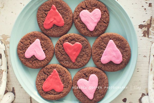 valentine's ginger crinkles-has cute labels to go with-saved under printables board