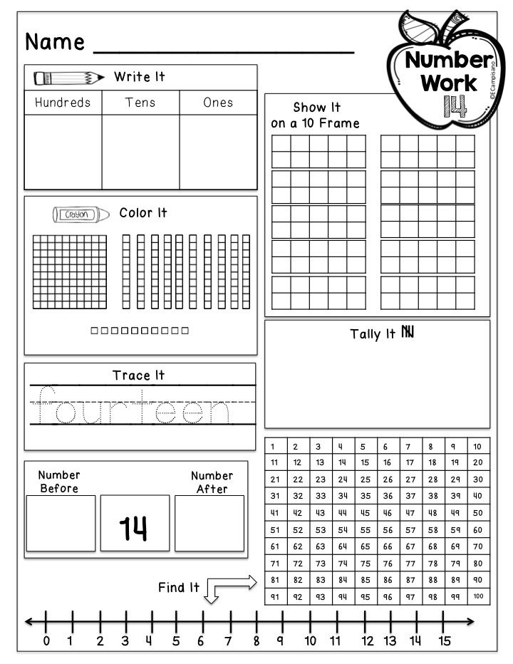 100 page NO-PREP resource supports daily calendar routines, counting the days in school, and builds number sense! Kindergarten / 1st Grade Daily Number Practice -- Number of the Day [place value, base ten blocks, ten frames, tally marks, number grid, number line, numbers before & after]