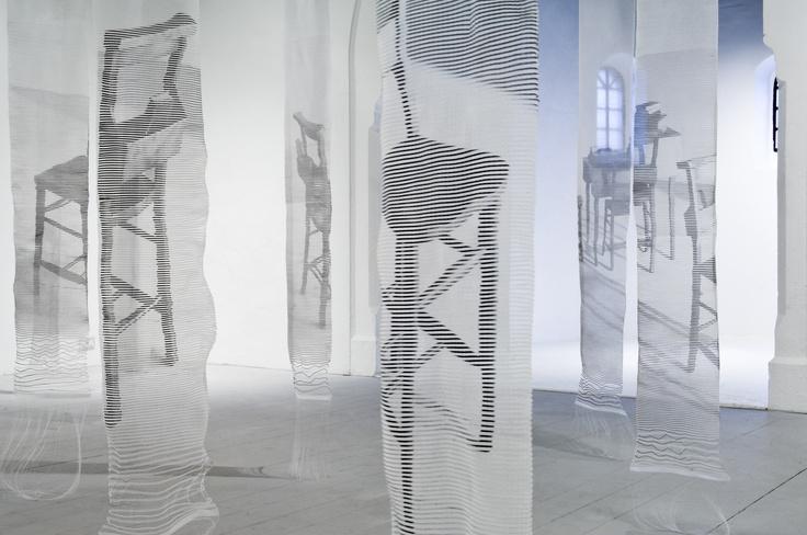 """Installation /Gosodiad: """"Traces"""" Ainsley Hillard"""