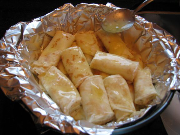 Nalysnyke - Ukranian Crepes with cheese.