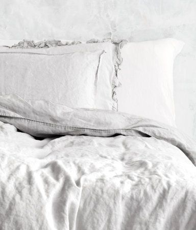 Am loving the lived in look of this linen bedding from H  Product Detail | H GB