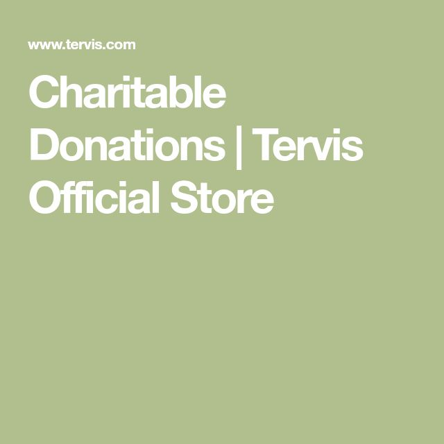 Charitable Donations | Tervis Official Store