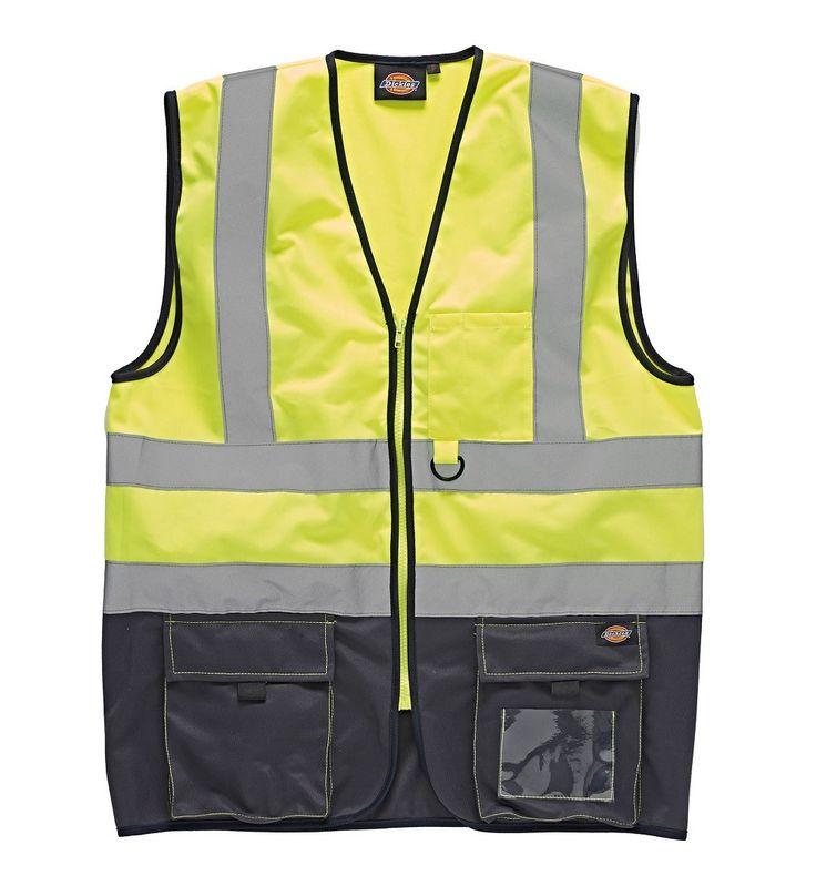 Pour rester bien visible sur vos chantiers, adoptez le gilet de sécurité Hi-Vis Bicolore Dickies, en vente sur Oxwork.com !