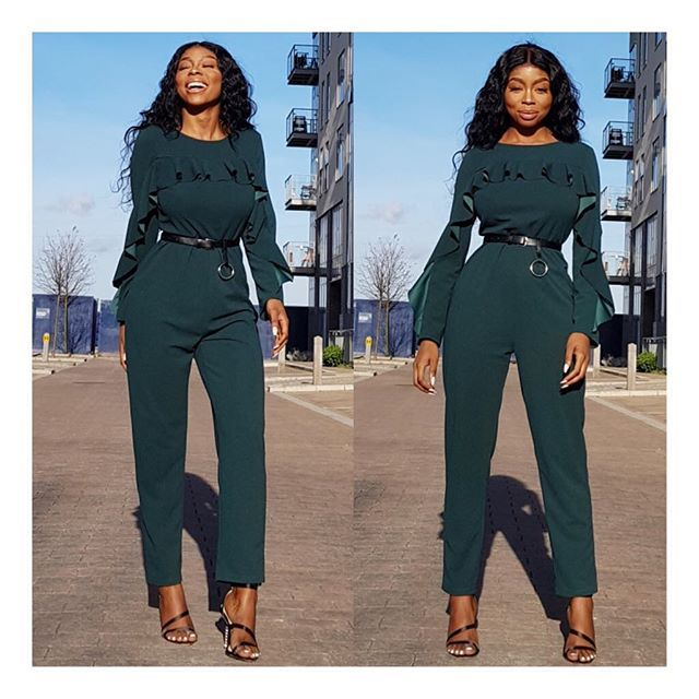 WEBSTA @miskayboutique ✨✨NEW IN ✨✨ Green Frill Belted Jumpsuit  N11800 Size: 8-14 _____________________________  Style Available at all MKBStores  Stores Open Hours Mon- Sat 10AM- 7PM  Store Info Bio 👉🏽@miskayboutique _____________________________  OrderOnline 24/7 👉🏾 www.miskayboutique.com  Web Link in Bio 👉🏾 @miskayboutique  Call/WhatsApp 👉🏾  2347013951369 (10AM-5PM) We DON'T Take Orders By DM ❌