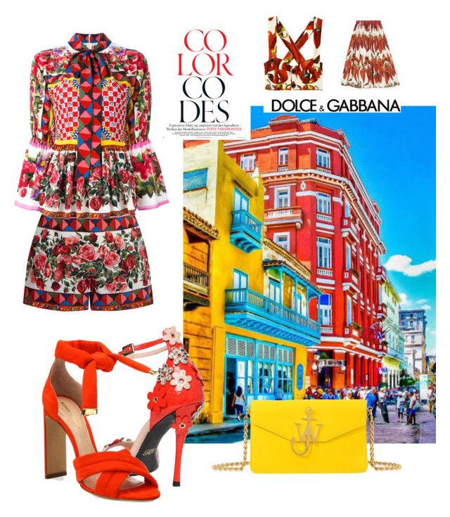 """Diverse"" by evanshram on Polyvore featuring Dolce&Gabbana, J.W. Anderson, Roger Vivier and Nicholas Kirkwood"