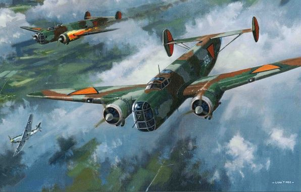 art painting of ww2 images | Wallpaper fokker tv, ww2, war, art, painting, drawing, finish airforce