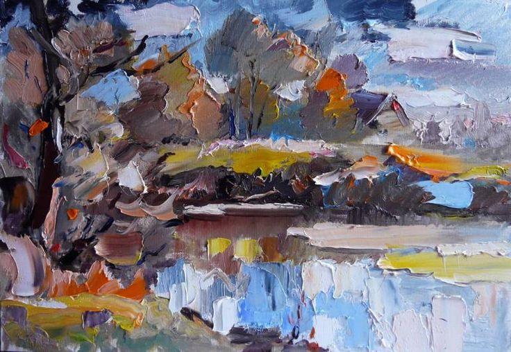 "Saatchi Art Artist Indie Ru; Painting, ""Thunderstruck"" #art"