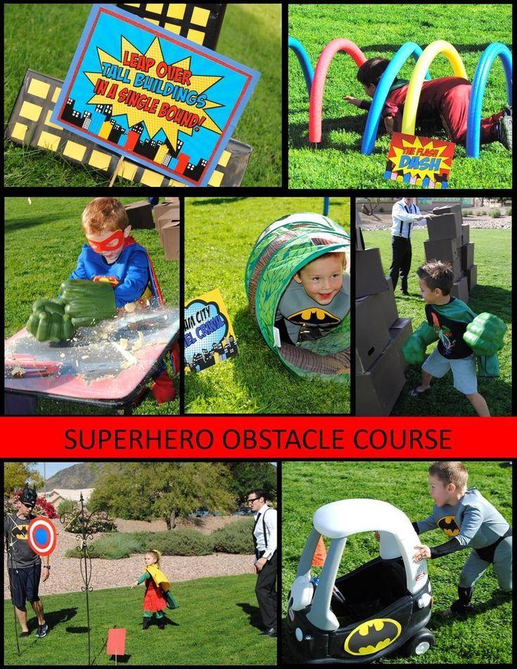 SUPERHERO Party- Superhero GAMES for kids- Superhero Birthday Party - Comic Party- Superhero Obstacle Course