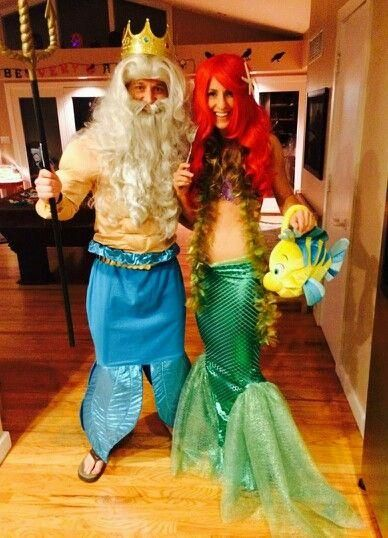 Neptune And Little Mermaid Costumes