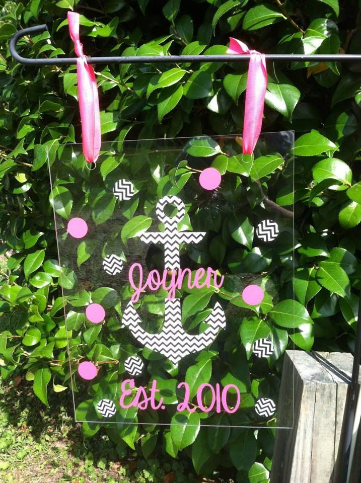 NEW Acrylic Garden Flags 11x14. Made Of Outdoor Acrylic And Outdoor Vinyl.  $15 Can