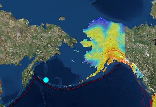 The United States Geological Survey reports a preliminary magnitude 6.9 earthquake struck near Attu Station, Alaska on Saturday. The quake hit at 9:24 AM local time at a depth of 31 kilometers. There was no initial word on damage or injury resulting from the quake. More information on this earthquake is available on the USGS event page. See the latest USGS quake alerts, report feeling earthquake activity and tour interactive fault maps in the earthquake section.