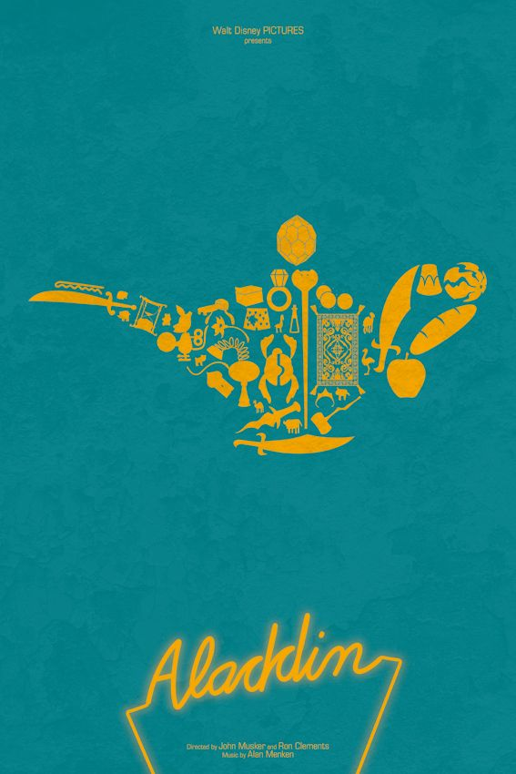 Aladdin Minimalist Movie Poster