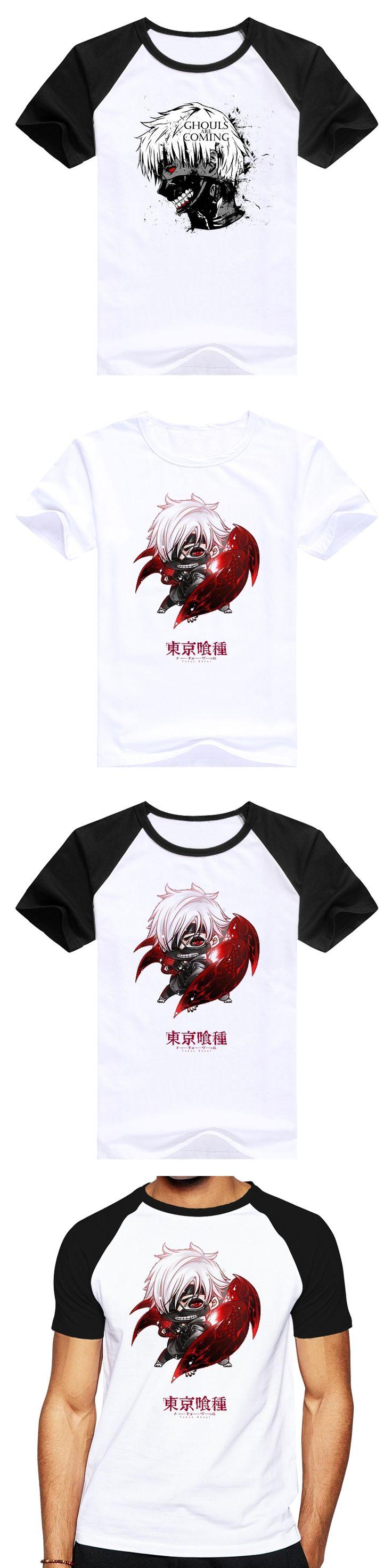 Men Summer hip hop Short Sleeve manga Tokyo Ghoul T-shirts Animation Cartoon Sasuke Ninja Print T Shirts Fashion Shirts Design