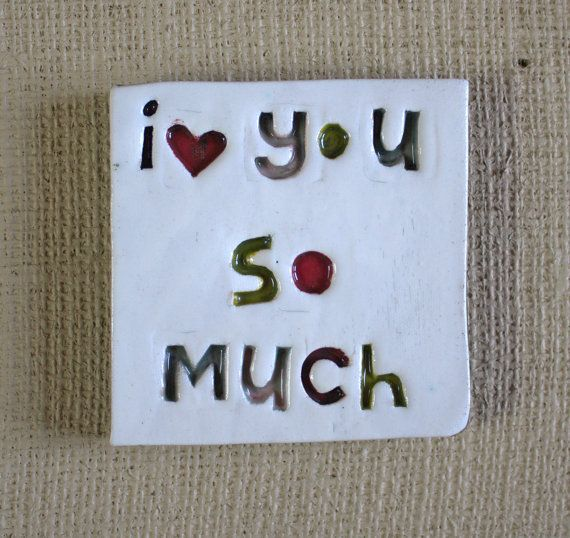 I love you so much ceramic tile by the by TheMonsterCompany