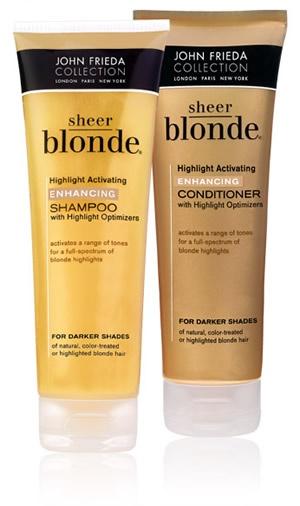 Jhon Frieda Sheer Blonde ♥    Shampoo y Acondicionador :) resaltan los tonos claritos del pelito, super suaves, rico aroma y lo mejor es que rinden monton! vale la pena :) c/u 4.990.- generalmente en farmacias lo recomiendo ♥