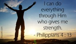Philippians 4:13 quote on strength