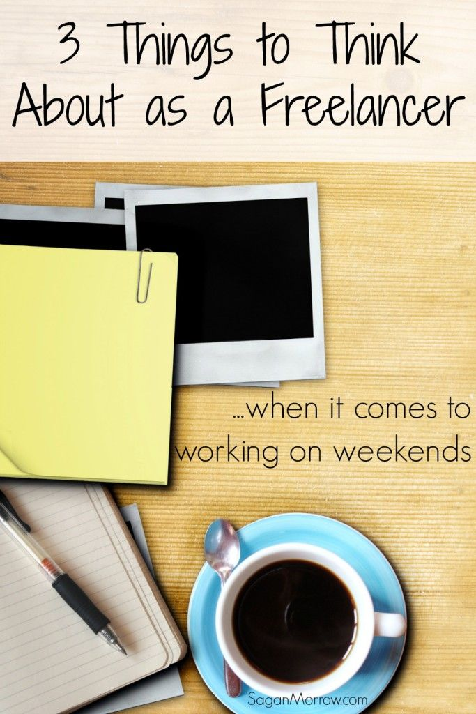 Not sure if you should be working out of normal workday hours (such as in the evening and on weekends) as a freelancer? Here are 3 great questions to ask yourself if you're unsure! Every freelancer should consider these 3 things before committing to working on weekends or just working weekday hours ~ freelance tips ~ blogger tips