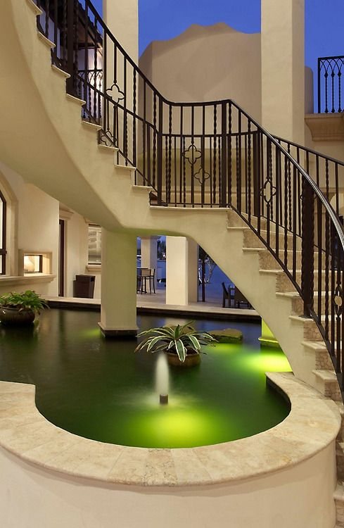 17 best images about indoor pond on pinterest for Indoor koi pool
