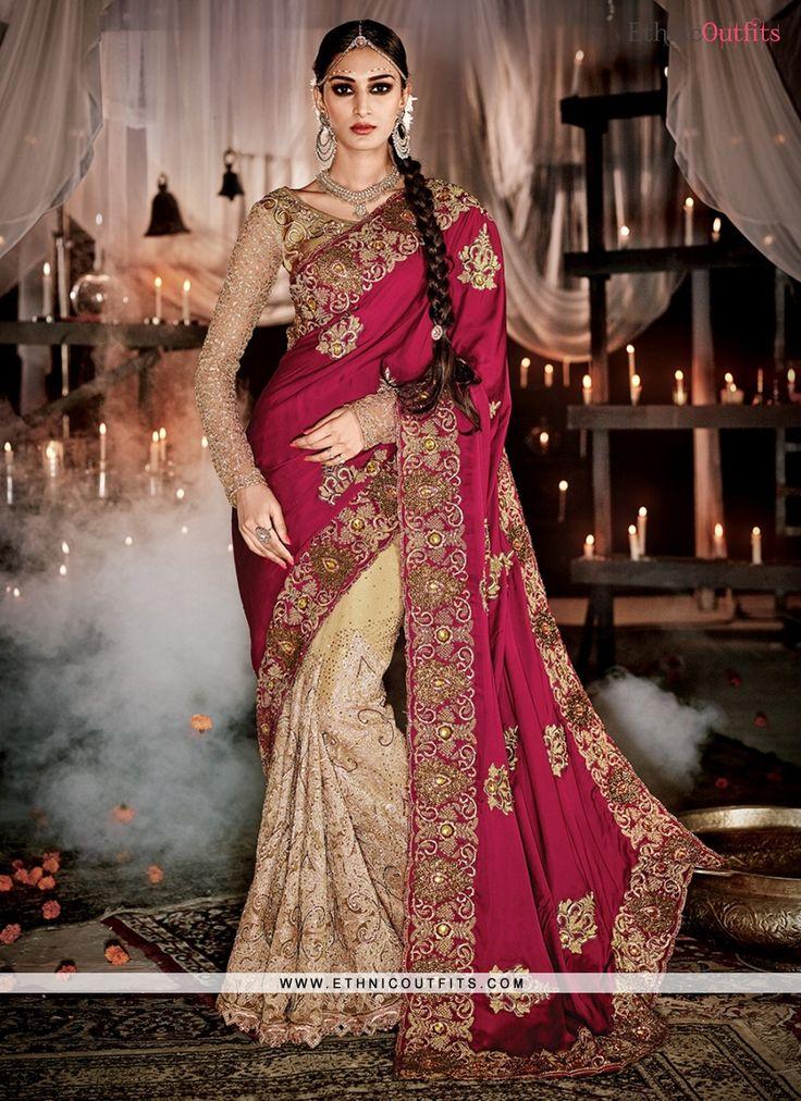 Superlative Maroon Designer Saree  Email - support@ethnicoutfits.com Call - +918140714515 What's app/Viber - +918141377746