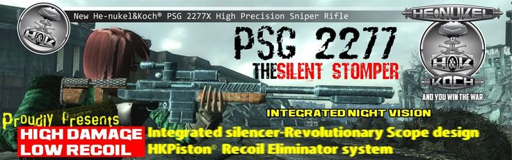 PSG2277 50cal Sniper Rifle Sneaky Stomper - New Vegas Mod Review