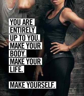 Fitness Quote - It's up to you, make the most of it