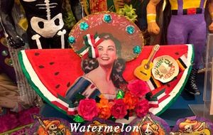 Image of Paper mache watermelons