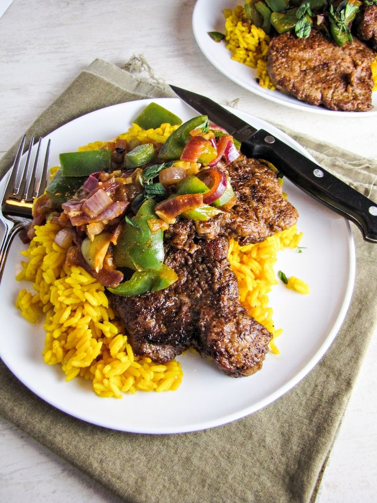 minute steaks with spanish rice and picadillo from blue apron meals blog eats pinterest. Black Bedroom Furniture Sets. Home Design Ideas