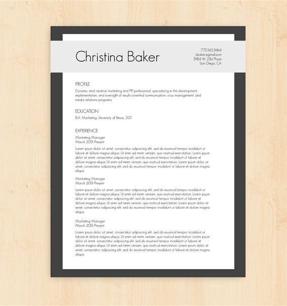 7 Best Professional Resume Template Images On Pinterest