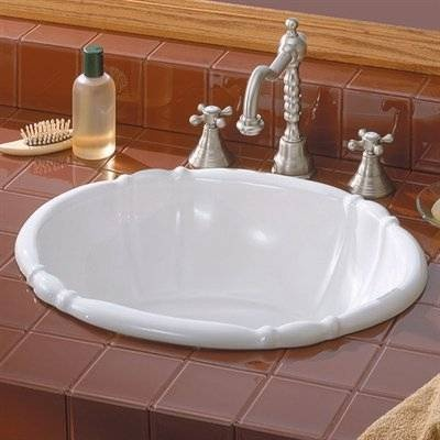 Cheviot 1514w Oval Fluted Dropin Basin Self Rimming
