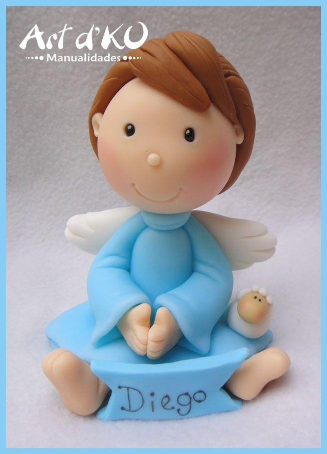 angeles-para-bautizo-primera-comunion-adorno-de-pastel-16272-MLM20117560113_062014-F.jpg (655×910)